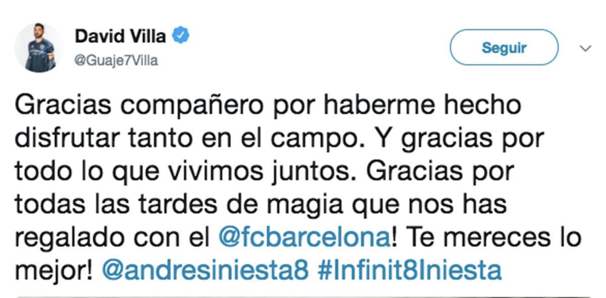 David Villa Andrés Iniesta