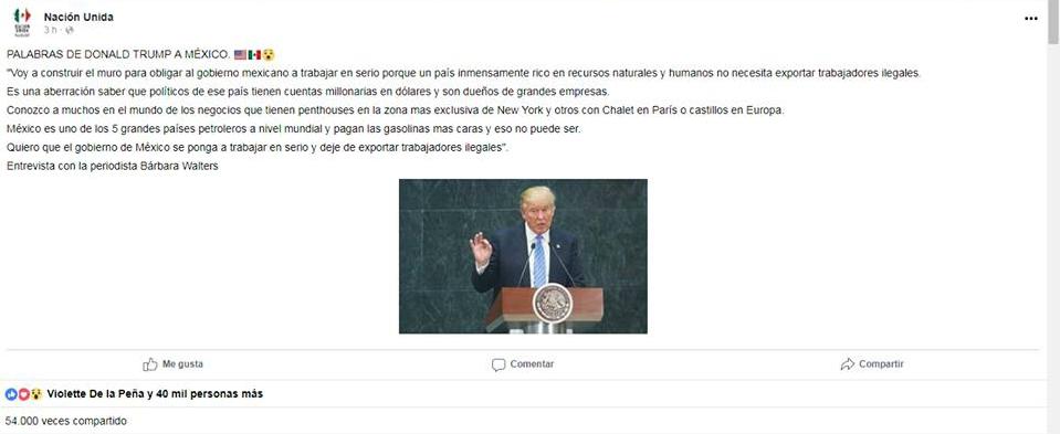 Donald Trump video muro frontera