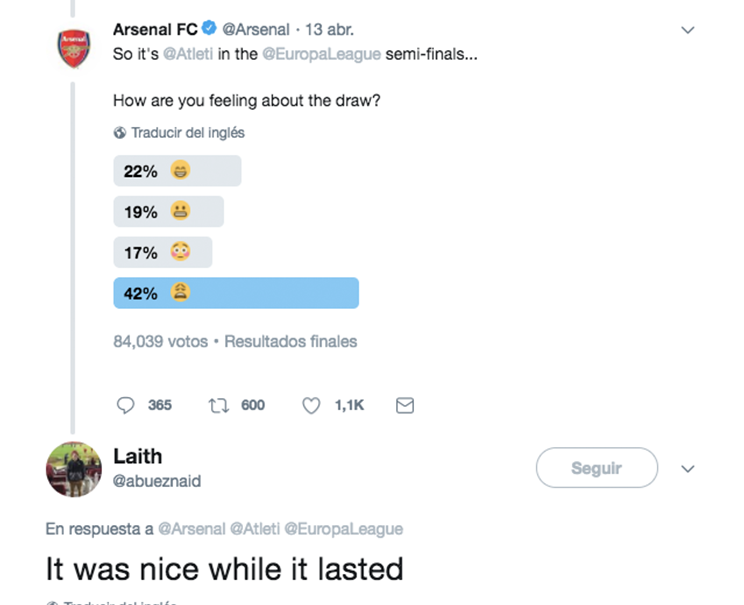 Trolleo aficionados Arsenal