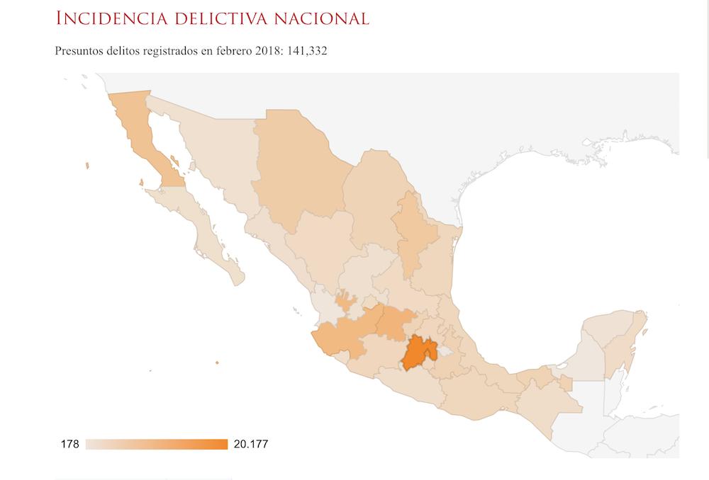 incidencia delictiva en el Estado de México