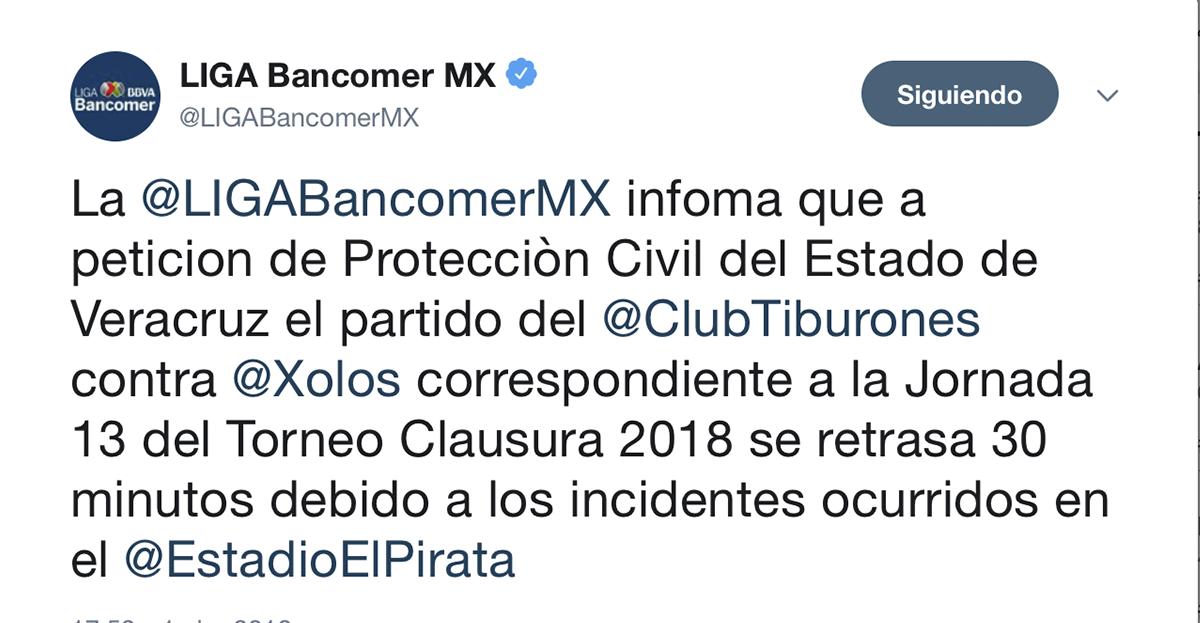 Liga MX retraso del juego