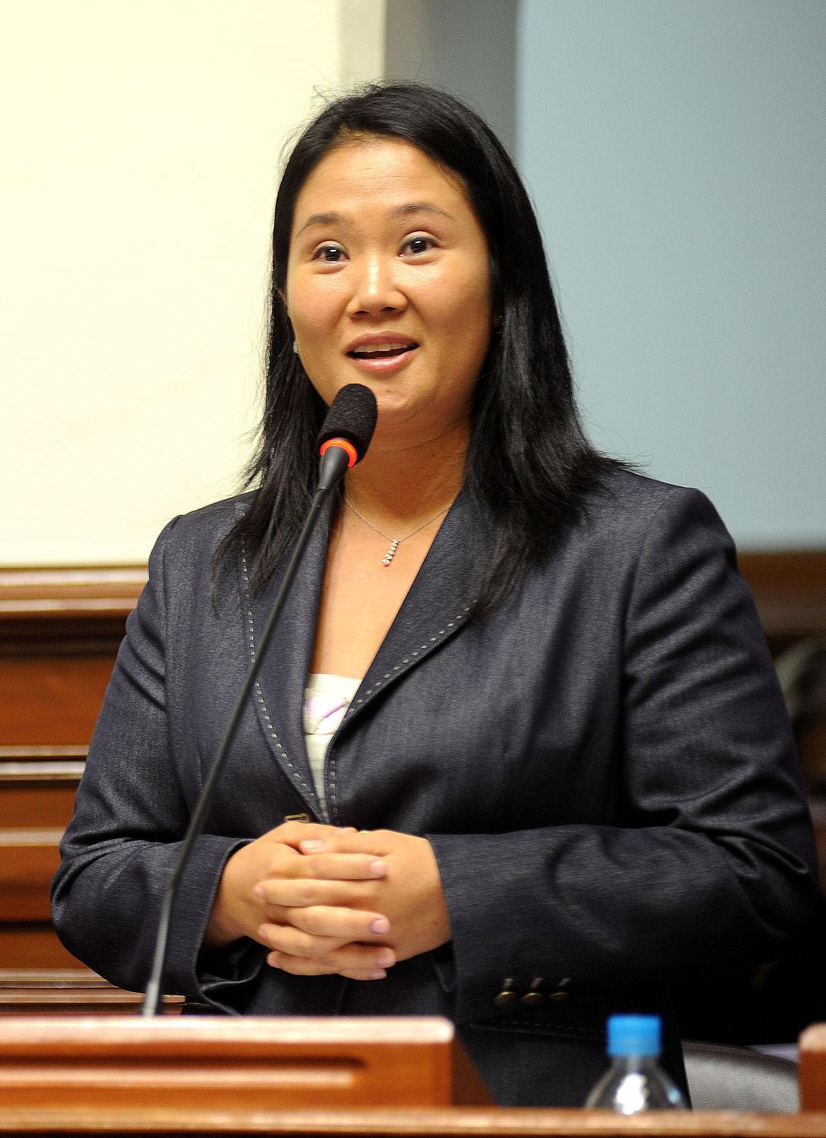 Keiko Fujimori, presidenta del partido fuerza popular