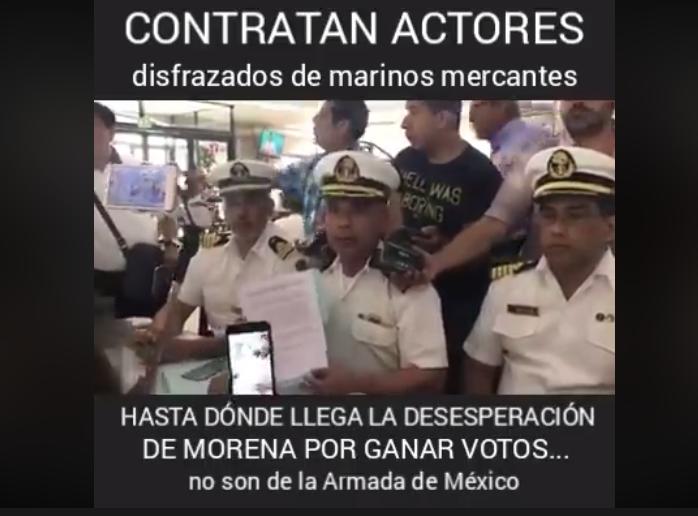Marina mercante falso apoyo en conferencia a AMLO