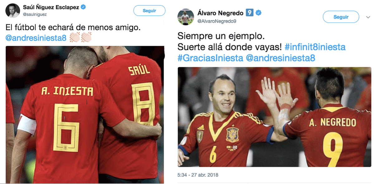 Negredo Niguez Andrés Iniesta