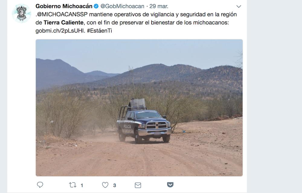 Operativo en Tierra Caliente Michoacán