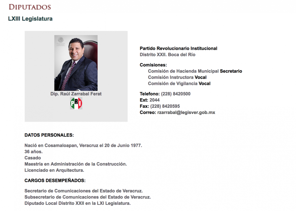 Raúl Zarrabal Ferat busca diputación federal