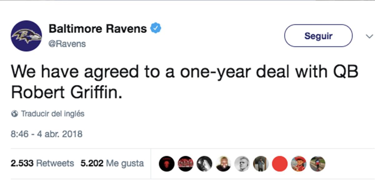 Ravens y Griffin