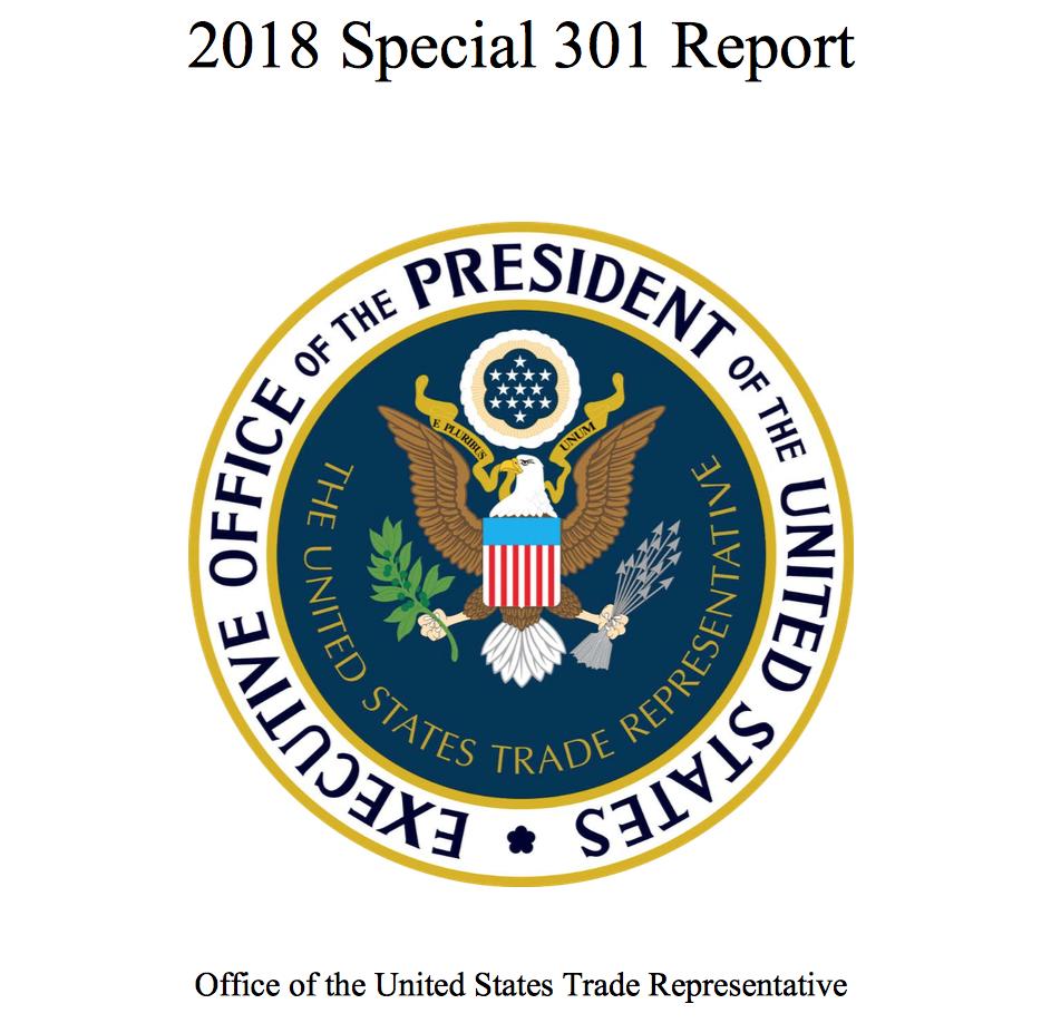 Reporte 301 Estados Unidos