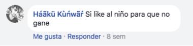 Comentarios al niño en el concurso del Día de Reyes en Facebook
