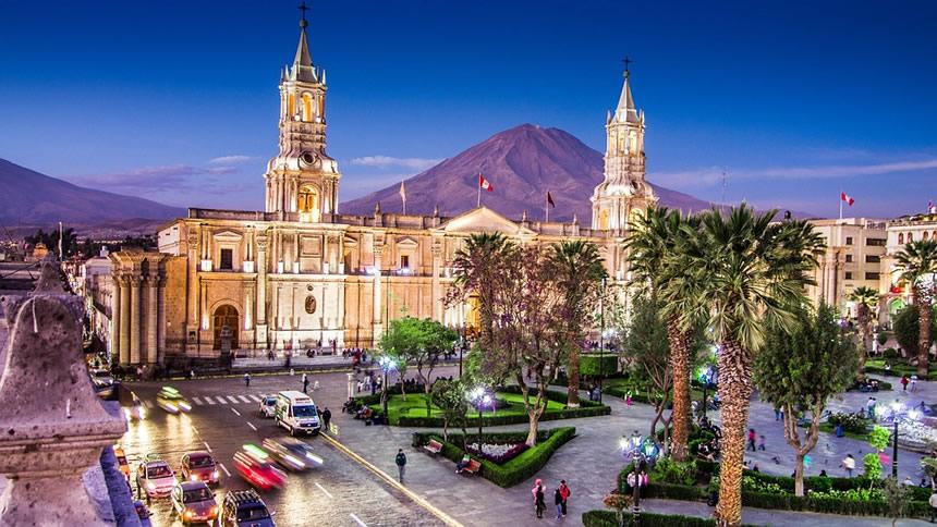 Panoramica Arequipa, Perú