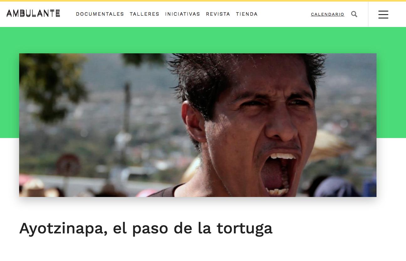 Del Toro produjo este documental de Ayotzinapa