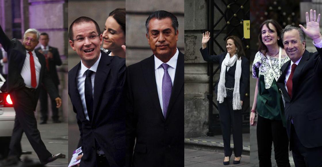 candidatos llegando a Palacio de Minería
