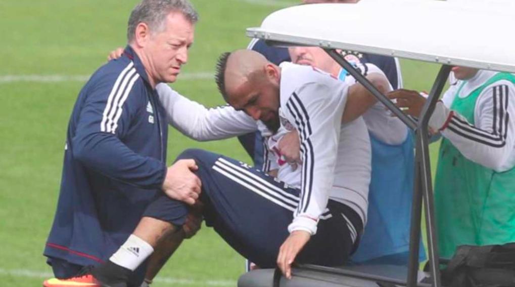 Bayern-Munich-Arturo-Vidal-Entrenamiento-lesión-rodilla