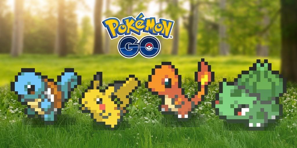Pokemón Go celebra el 'April Fools' cambiando sus visuales a 8 bits 😬