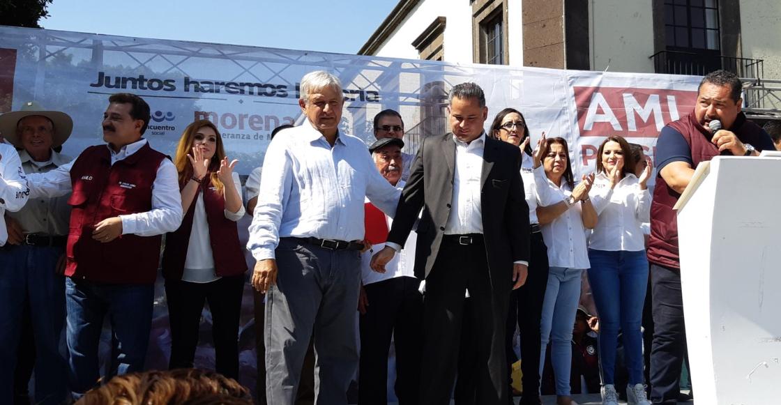 AMLO y Santiago Nieto