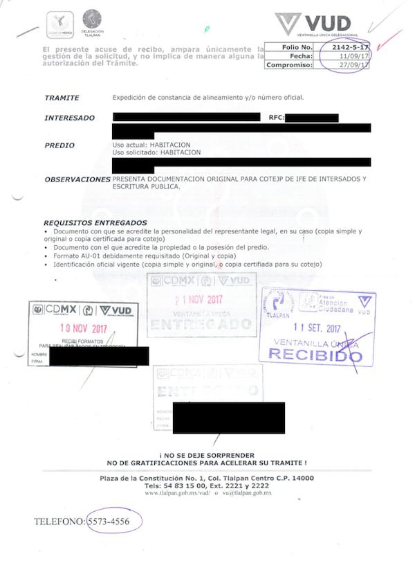 Documento VUD ejemplo