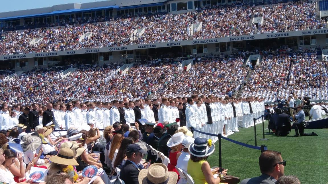 Graduación Academia Naval Estados Unidos