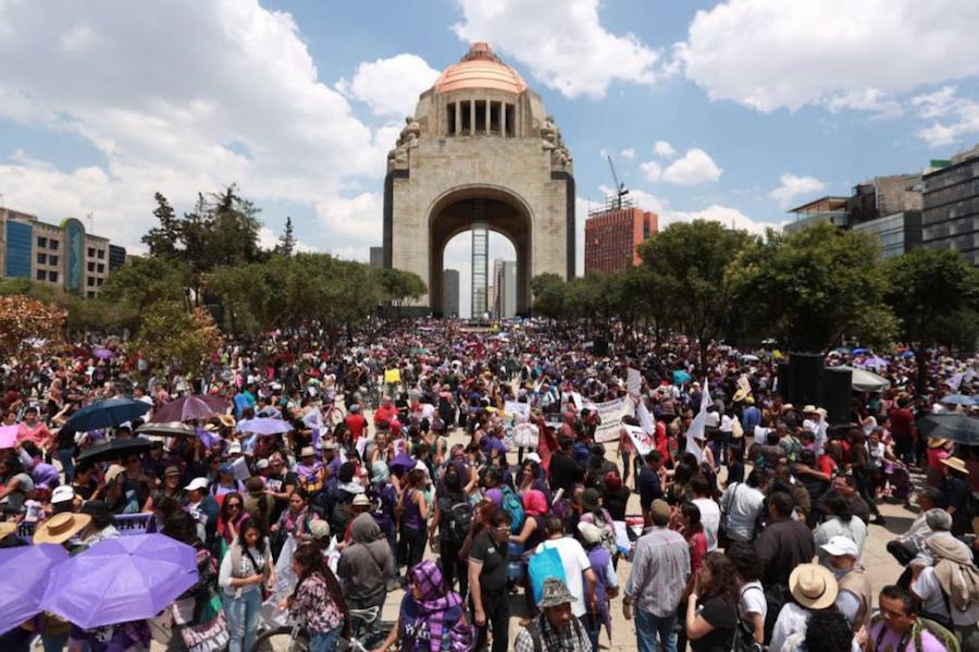 Marcha contra la violencia machista CDMX