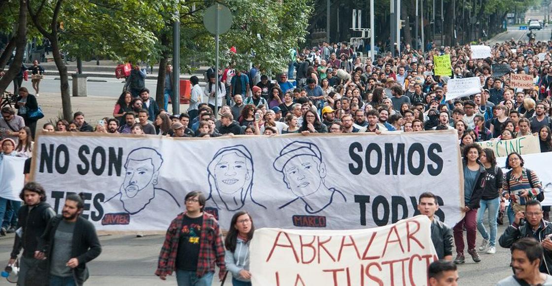 Marcha estudiantes de cine Jalisco