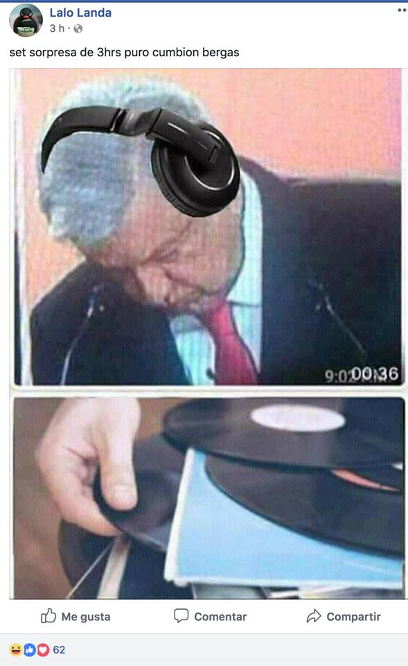 Memes fiesta de AMLO