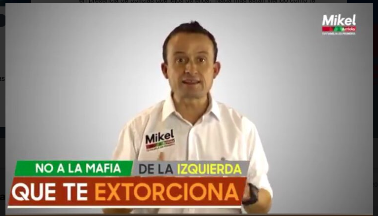 Mikel Arriola video faltas de ortografía