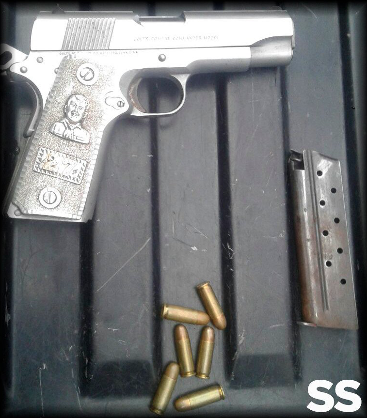 Pistola incautada SS Edomex