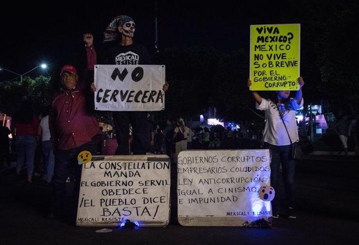 Protesta Constellation Brands