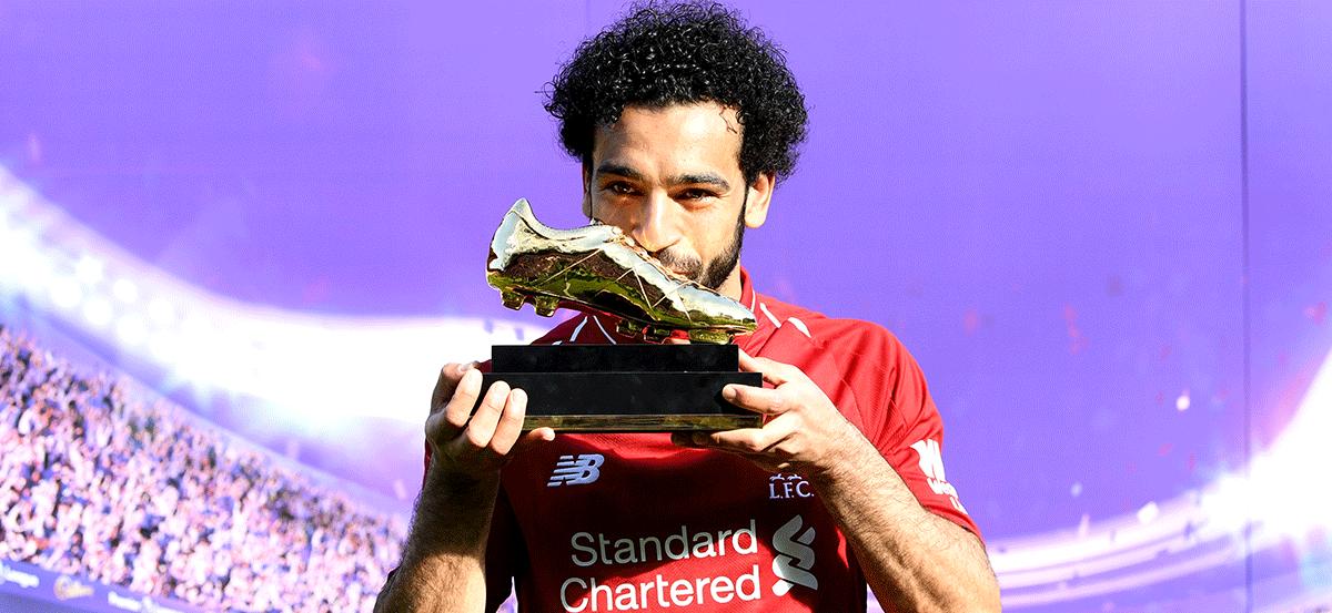 Botines del récord de Mohamed Salah