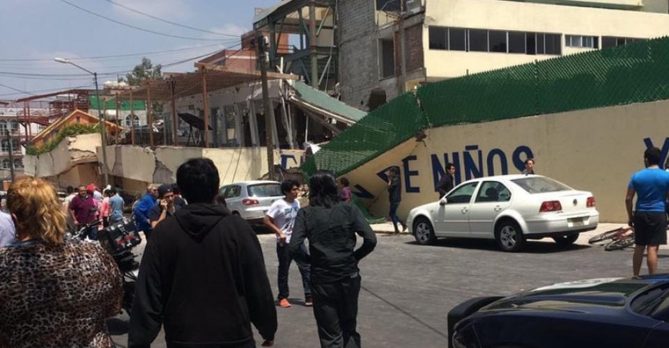 Sismo 19 de septiembre Colegio Enrique Rébsamen tras el sismo del 19 septiembre