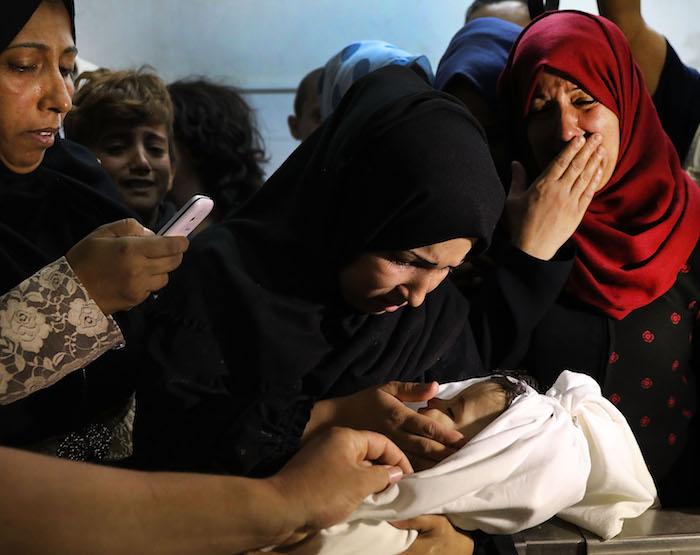 Víctimas de las manifestaciones en franja de Gaza