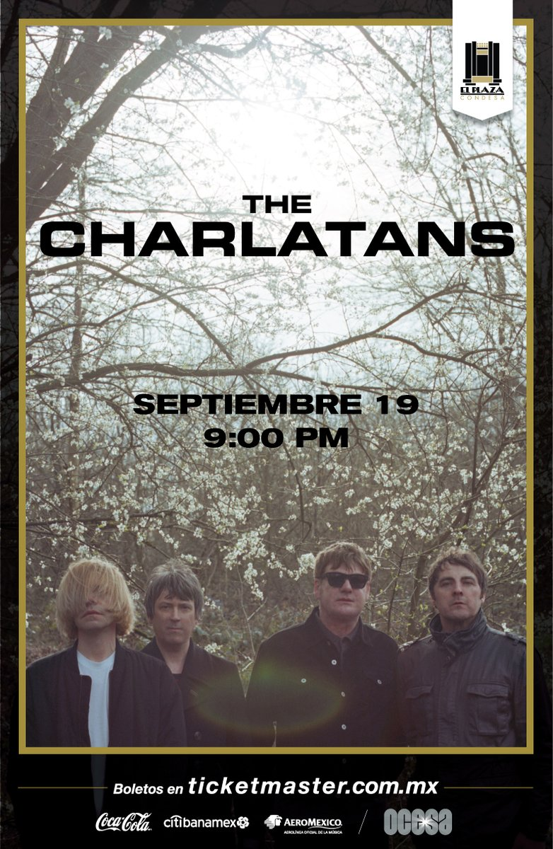 The only thing I know es… ¡The Charlatans regresan a México!