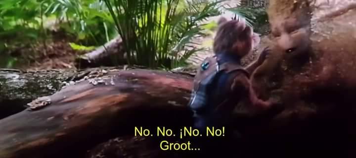 Finalmente revelan lo que dijo Groot en la escena final de 'Avengers: Infinity War'