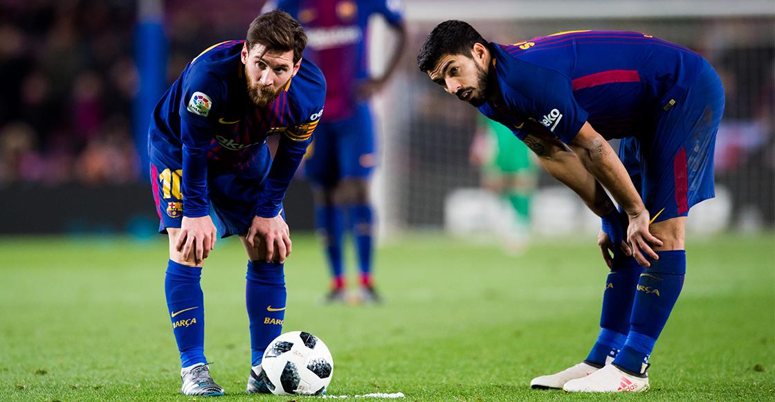 Luis Suárez y Messi