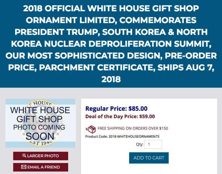 moneda conmemorativa Trump y Kim