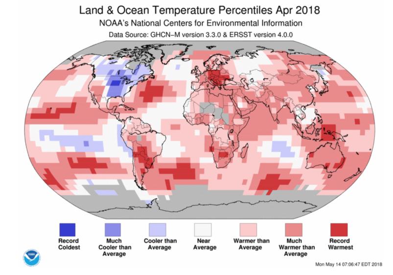 temperatura mundial